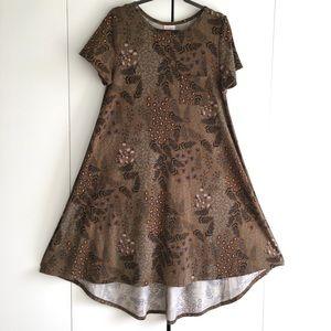 LuLaRoe Carly dress - floral brown/olive